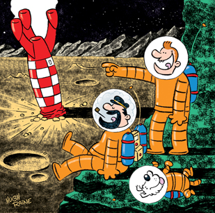 Explorers On The Moon, Tin Tin exhibition 2018